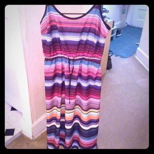 Athleta Sz M bright striped Dress